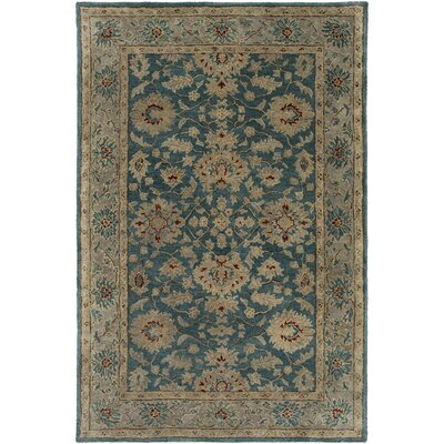 Nolan Hand-Tufted Sky Blue/Cream Area Rug Rug size: Rectangle 23 x 46