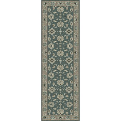 Nolan Hand-Tufted Sky Blue/Cream Area Rug Rug size: Runner 26 x 8