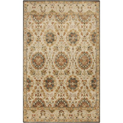 Mcdowell Hand-Tufted Tan Area Rug Rug size: Rectangle 2 x 3