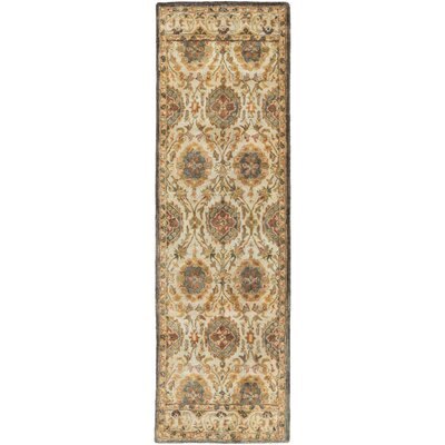 Mcdowell Hand-Tufted Tan Area Rug Rug size: Runner 26 x 8