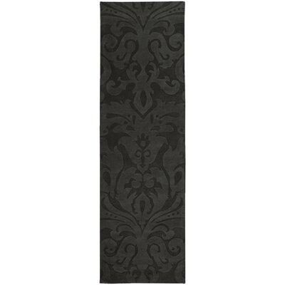 Rushden Hand-Loomed Black Area Rug Rug size: Runner 26 x 8