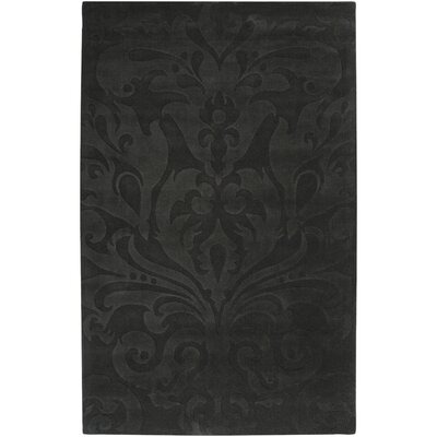 Rushden Hand-Loomed Black Area Rug Rug size: 8 x 11