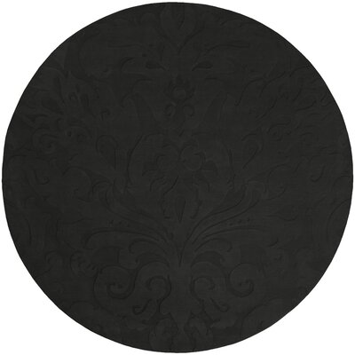 Ella Hand-Woven Gray Area Rug Rug Size: Round 8
