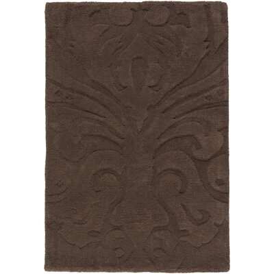 Rushden Hand-Loomed Dark Brown Area Rug Rug size: 9' x 13'