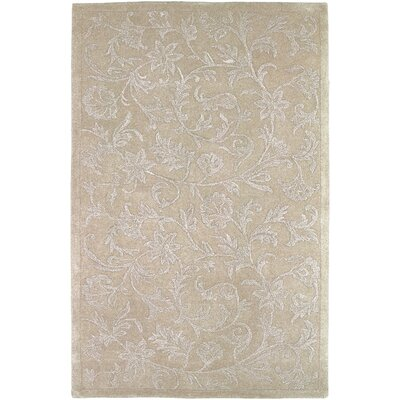 Tullia Hand-Tufted Taupe/Light Gray Area Rug Rug size: 33 x 53