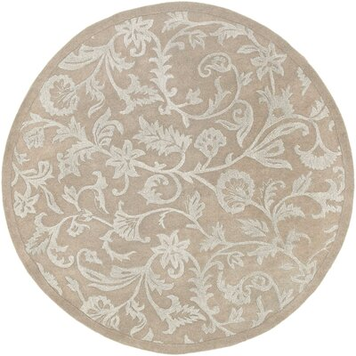 Hand Tufted Wool Beige Area Rug Rug Size: Round 79