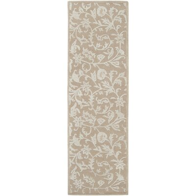 Hand Tufted Wool Beige Area Rug Rug Size: Runner 26 x 8