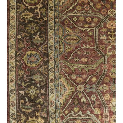 Rutgers Hand-Knotted Brown Area Rug Rug Size: 9 x 13