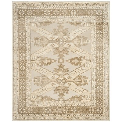 Hebert Hand-Knotted Beige Area Rug Rug Size: 8 x 10