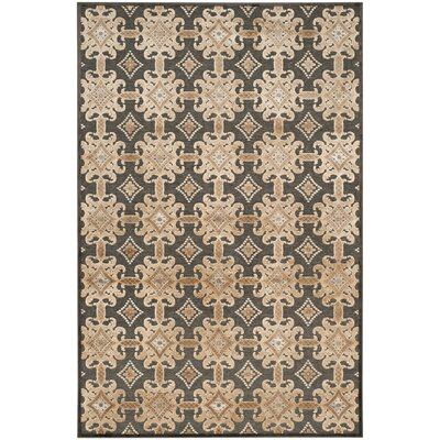Martha Stewart Soft Anthracite/Anthracite Area Rug Rug Size: 33 x 53