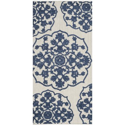 Parsons Gray/Blue Area Rug Rug Size: 67 x 96