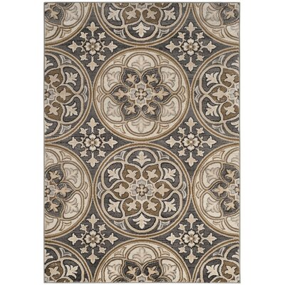 Taufner Light Gray/Beige Area Rug Rug Size: Rectangle 4 x 6