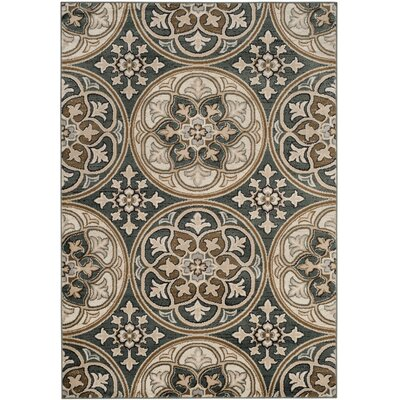 Taufner Blue/Beige Area Rug Rug Size: Rectangle 53 x 76