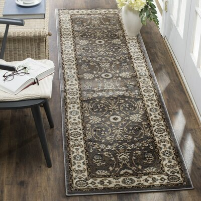 Taufner Gray/Cream Area Rug Rug Size: Runner 23 x 12