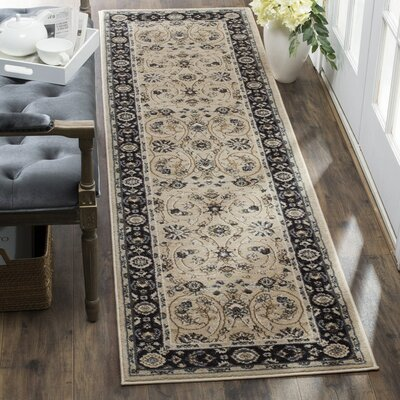 Taufner Light Beige/Anthracite Area Rug Rug Size: 53 x 76