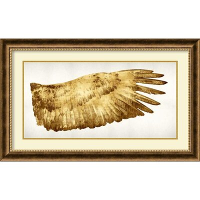 Golden Wing II Framed Painting Print