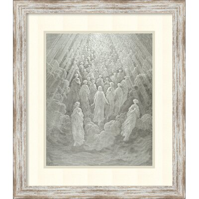 The Angels in the Planet Mercury: Beatrice Ascends with Dante to the Planet Mercury, c.1860-68 Framed Painting Print