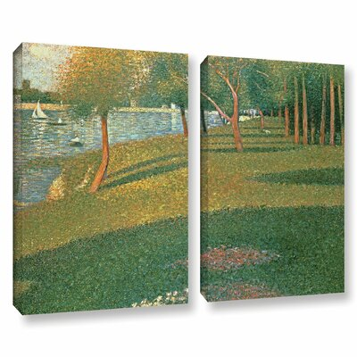 'La Grande Jatte' by Georges Seurat 2 Piece Painting Print on Wrapped Canvas Set