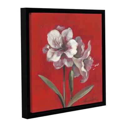 Christmas Flowers Painting Print on Wrapped Canvas