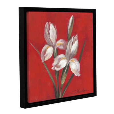 Christmas Flowers Framed Painting Print on Wrapped Canvas