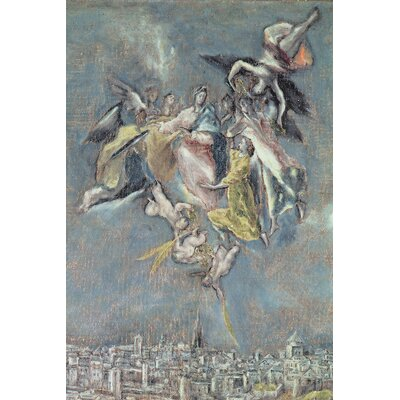 'Detail of Angels' by El Greco Painting Print on Wrapped Canvas