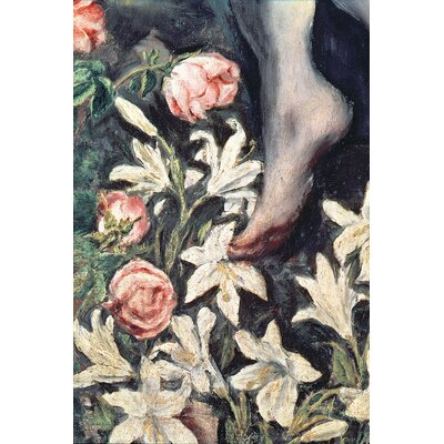 'Detail of Flowers' by El Greco Painting Print on Wrapped Canvas