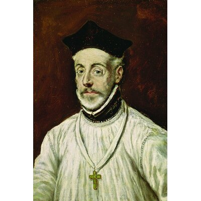 'Don Diego de Covarrubias y Leiva' by El Greco Painting Print on Wrapped Canvas