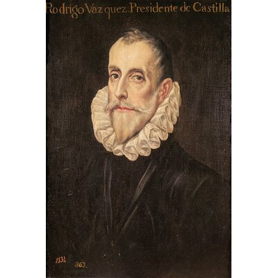 'Don Rodrigo Vazquez de Arce' by El Greco Painting Print on Wrapped Canvas