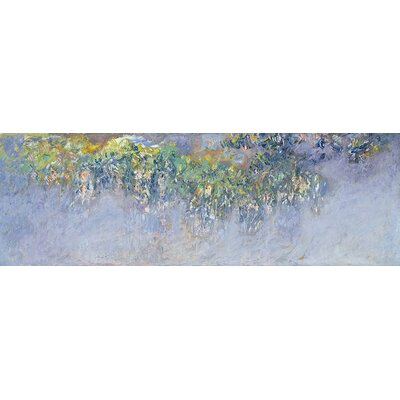 'Wisteria' by Claude Monet Painting Print on Wrapped Canvas