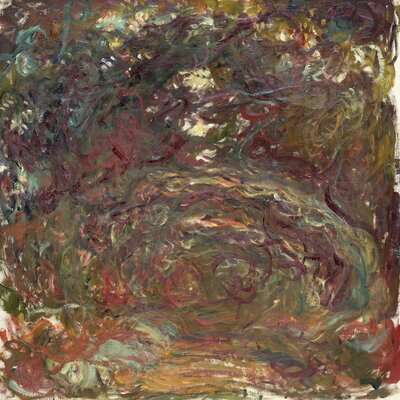'The Rose Path' by Claude Monet Painting Print on Wrapped Canvas
