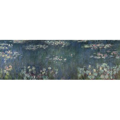 'Waterlilies Green Reflections' by Claude Monet Painting Print on Wrapped Canvas