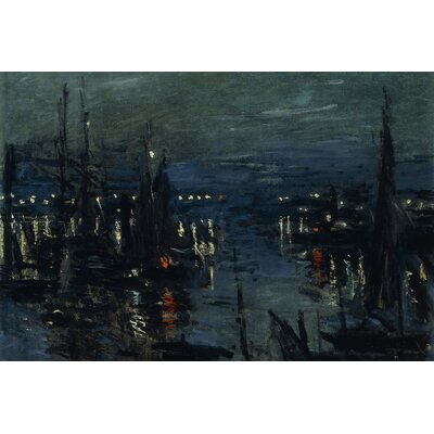 'The Port of Le Havre' by Claude Monet Painting Print on Wrapped Canvas