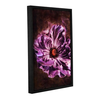 Royal Purple Framed Graphic Art on Wrapped Canvas