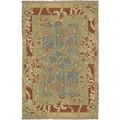 Mathilda Blue/Rust Rug Rug Size: Rectangle 6 x 9