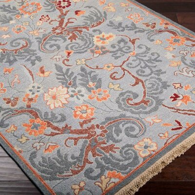Rupert Gray Blue Rug Rug Size: Rectangle 2 x 3