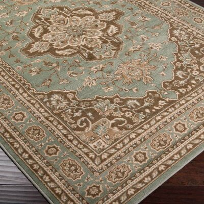 Boyer Blue Area Rug Rug Size: 53 x 76