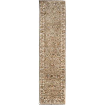 Harrell Hand-Knotted Brown Area Rug Rug Size: Rectangle 39 x 59
