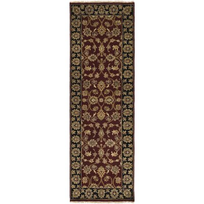Maravilla Hand-Knotted Dark Brown Area Rug