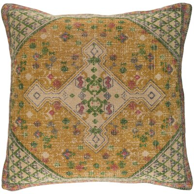 Arch Hill Throw Pillow Size: 18 H x 18 W x 4 D, Color: Yellow