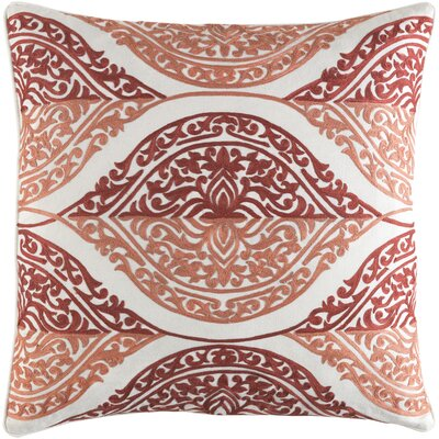 Parish Cotton Throw Pillow Size: 20 H x 20 W x 4 x D, Color: Coral/Camel
