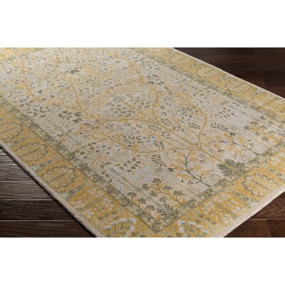 Crandon Gray/Yellow Area Rug Rug Size: Rectangle 53 x 76