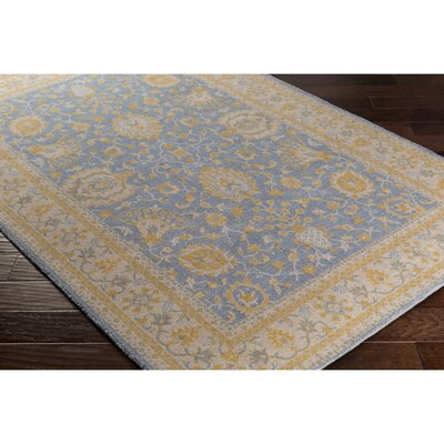 Crandon Gray/Blue Area Rug Rug Size: Rectangle 53 x 76