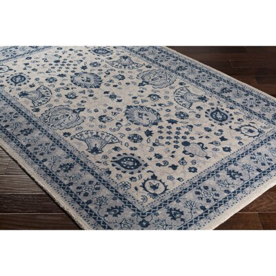 Crandon Woven Blue Area Rug Rug Size: Rectangle 53 x 76