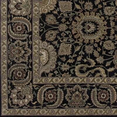 Wiley Hand-Knotted Black/Brown Area Rug Rug Size: 2' x 3'