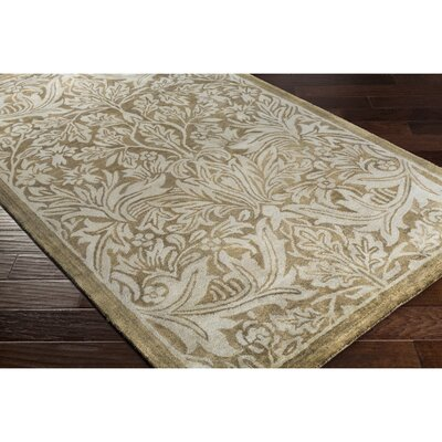 Acton Hand-Tufted Green Area Rug Rug Size: Rectangle 5 x 76
