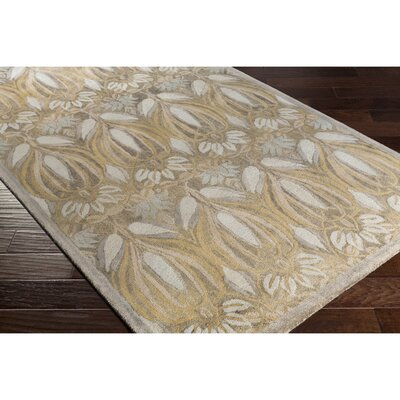 Acton Hand-Tufted Green/Neutral Area Rug Rug Size: Rectangle 5 x 76
