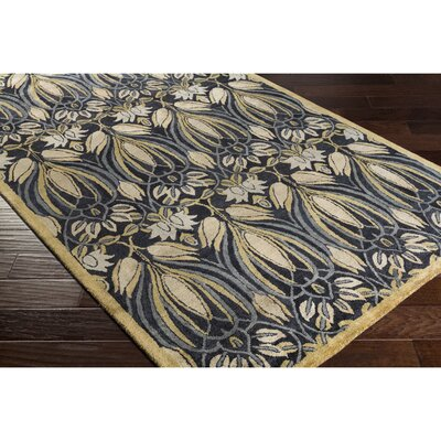 Acton Hand-Tufted Black/Green Area Rug Rug Size: Rectangle 2 x 3