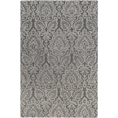 Russellville Hand-Hooked Gray Area Rug Rug Size: Rectangle 2 x 3