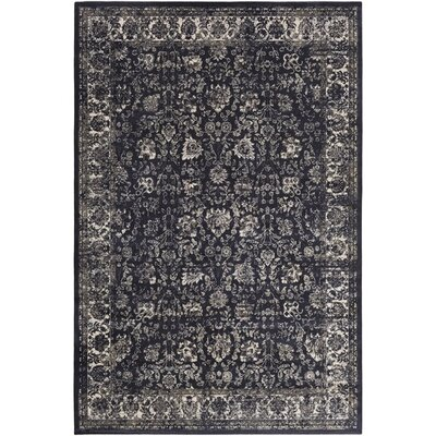 Rutland Black/Neutral Area Rug Rug Size: Rectangle 51 x 76