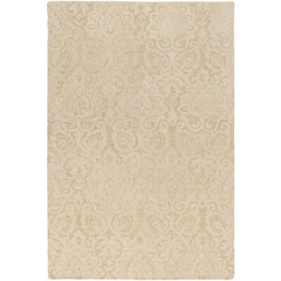 Russellville Hand-Hooked Neutral Area Rug Rug Size: Rectangle 2 x 3
